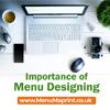 Importance of Menu Design