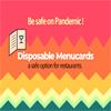 Disposable Menu Restaurants