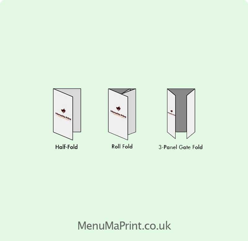 Half Fold Menu Design