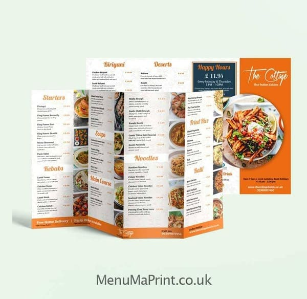 A3 Takeaway Menu Design